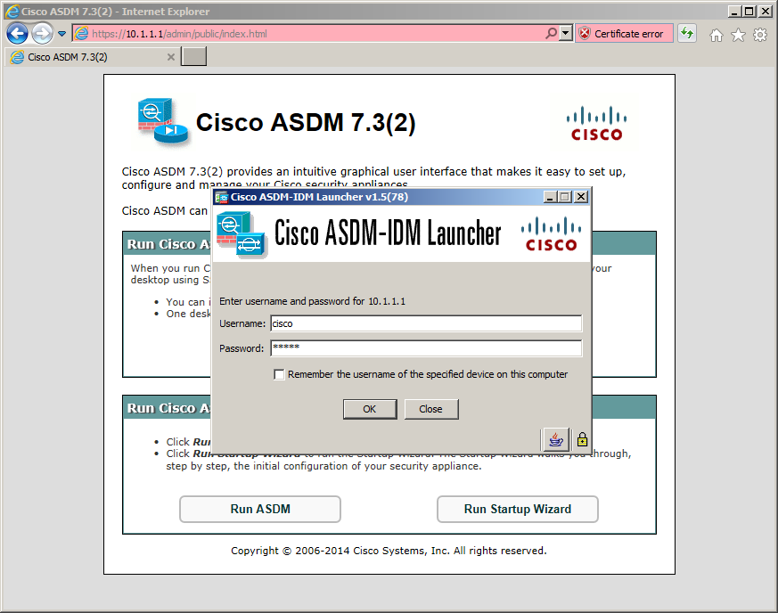 Free CCNA Workbook - CCNA Security - Lab 7-9 - Authenticating to Cisco ASDM