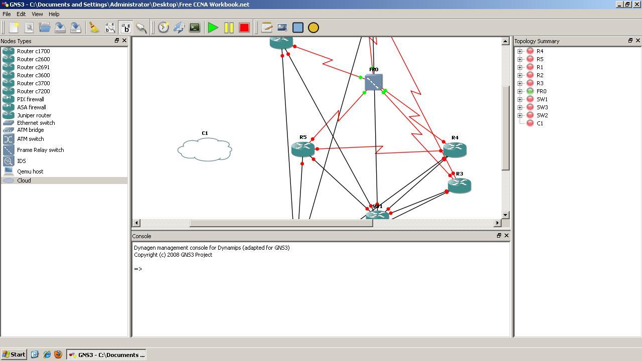 Configuring a GNS3 Ethernet NIO Cloud   Free CCNA Workbook