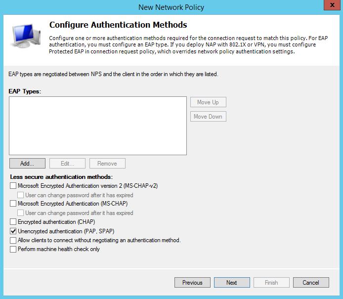 Cisco IOS Radius Authentication with Windows Server 2012 NPS